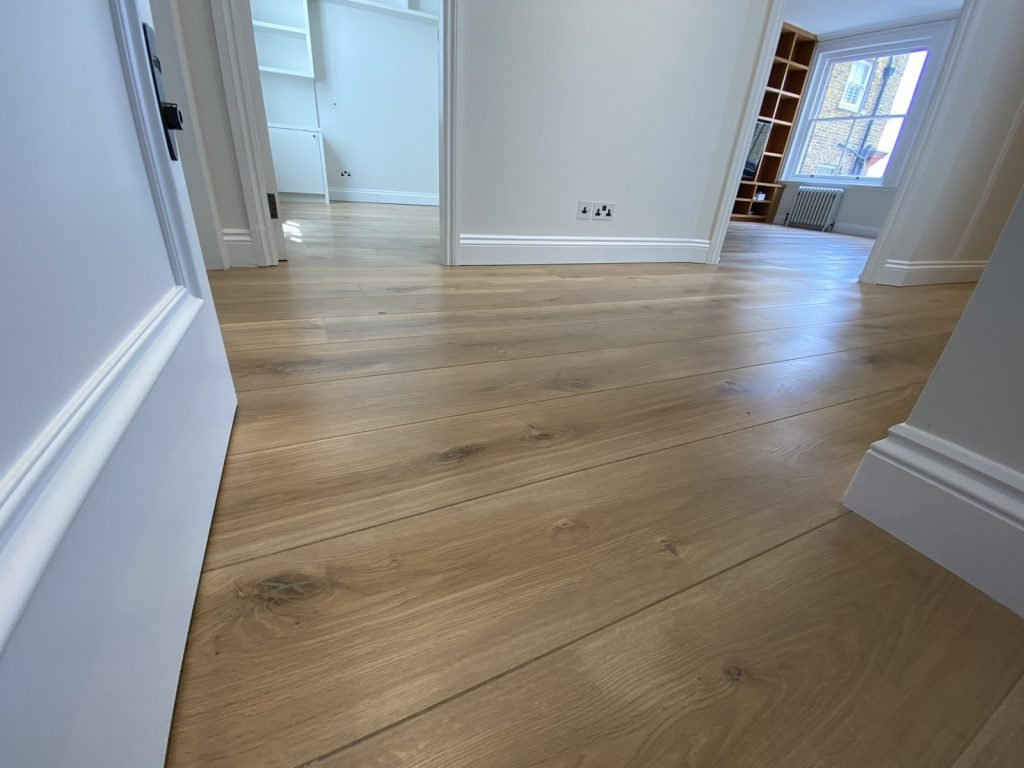 wood floor sanded, polished and oiled